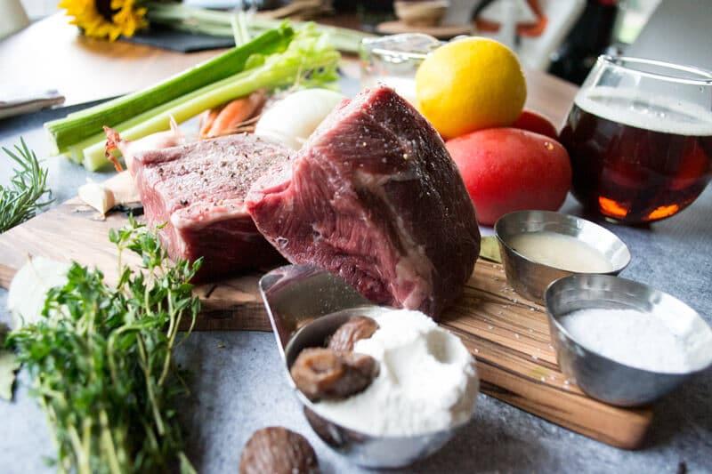 Chestnut Braised Beef Ingredients