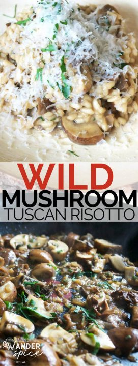 Wild Mushroom Tuscan Risotto