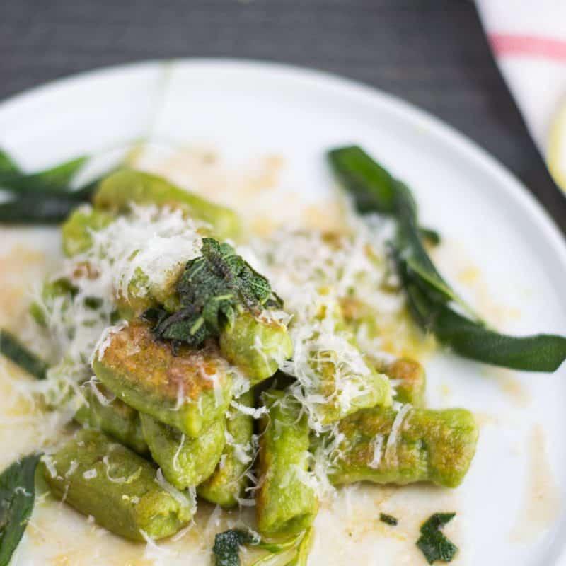 Spinach Gnocchi with Sage