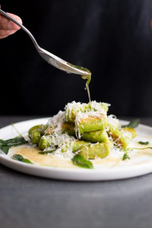 Spinach Gnocchi with Brown Butter Sage