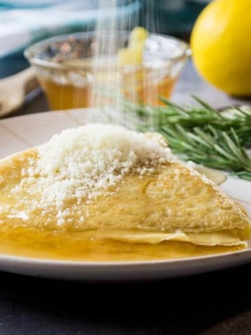 Ciaffagnoni - Italian Crepes with Chamomile Jelly and Pecorino Cheese