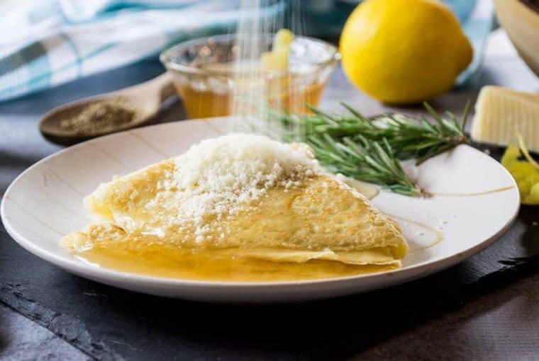 Ciaffagnoni - Italian Crepes with Chamomile Jelly and Pecorino Cheese