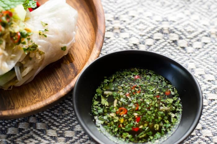 Nước chấm - vietnamese dipping sauce with lime, coconut water, chiles and