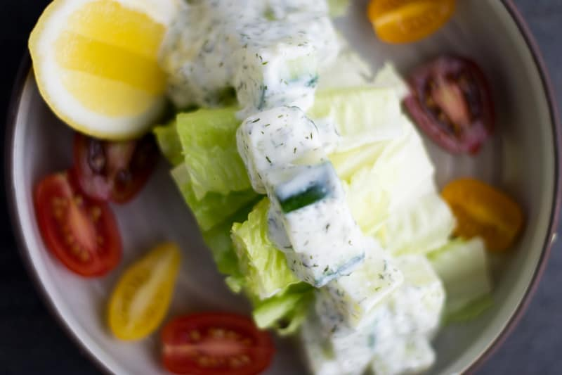 Greek Cucumber Salad Bowl