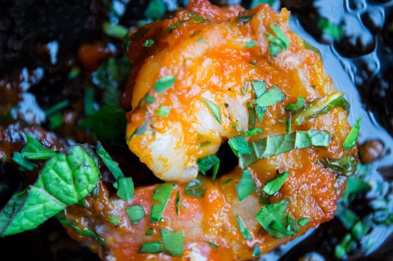 Moroccan Salad Shrimp Herbs