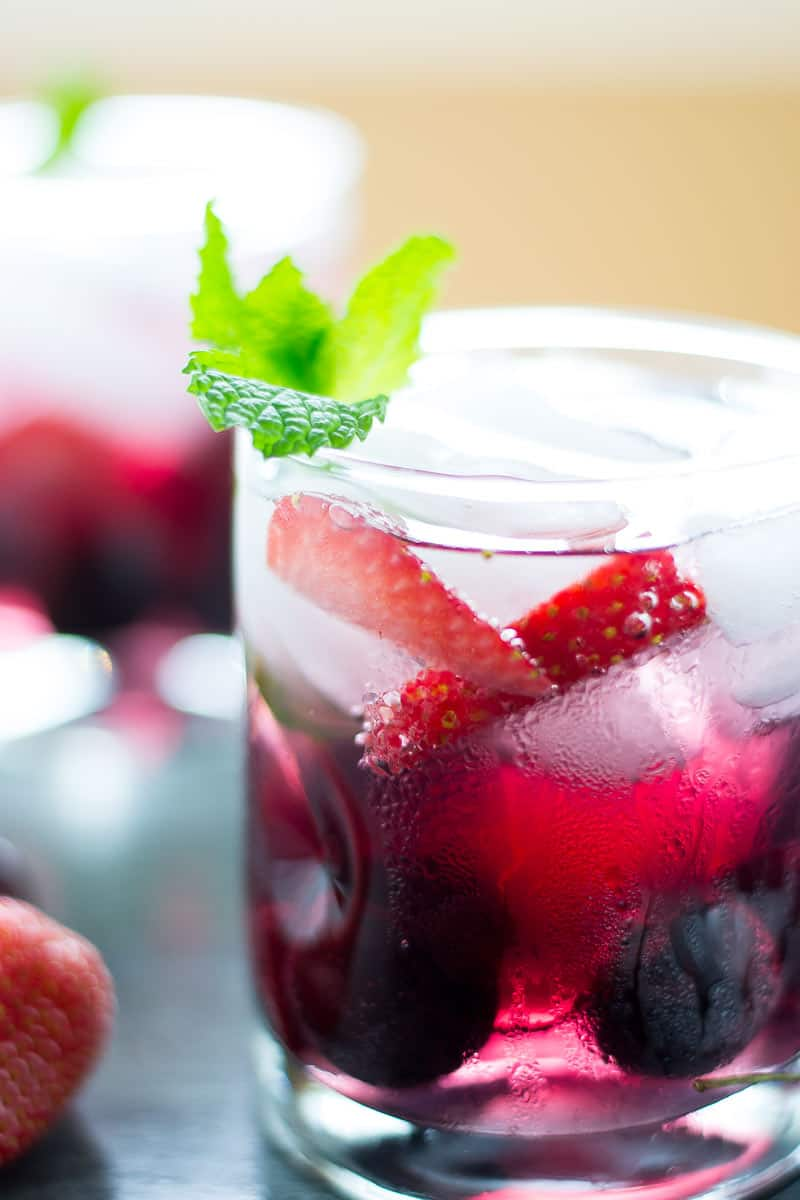 Red Wine Spritzer glass
