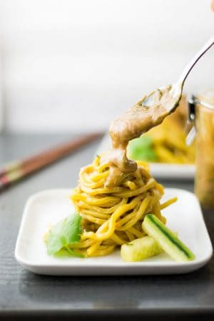 Cold Sesame Noodles with Spicy Thai Peanut Sauce