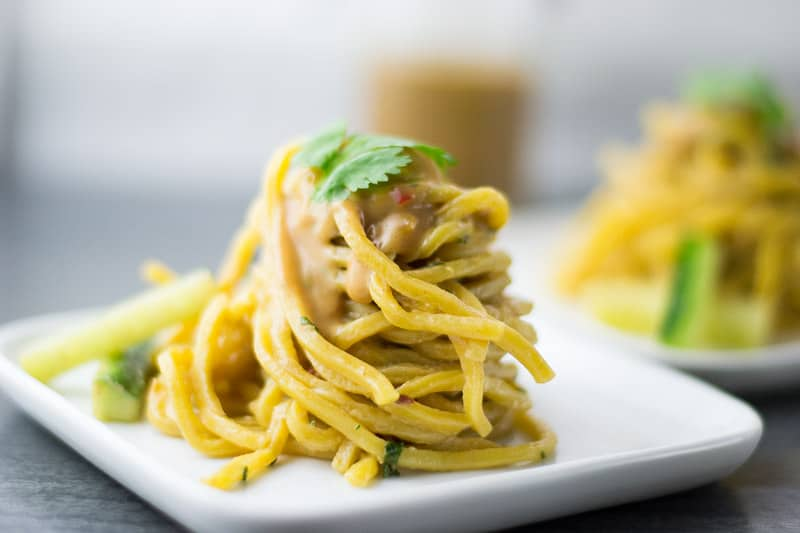 Cold Sesame Noodles with Cilantro Leaf