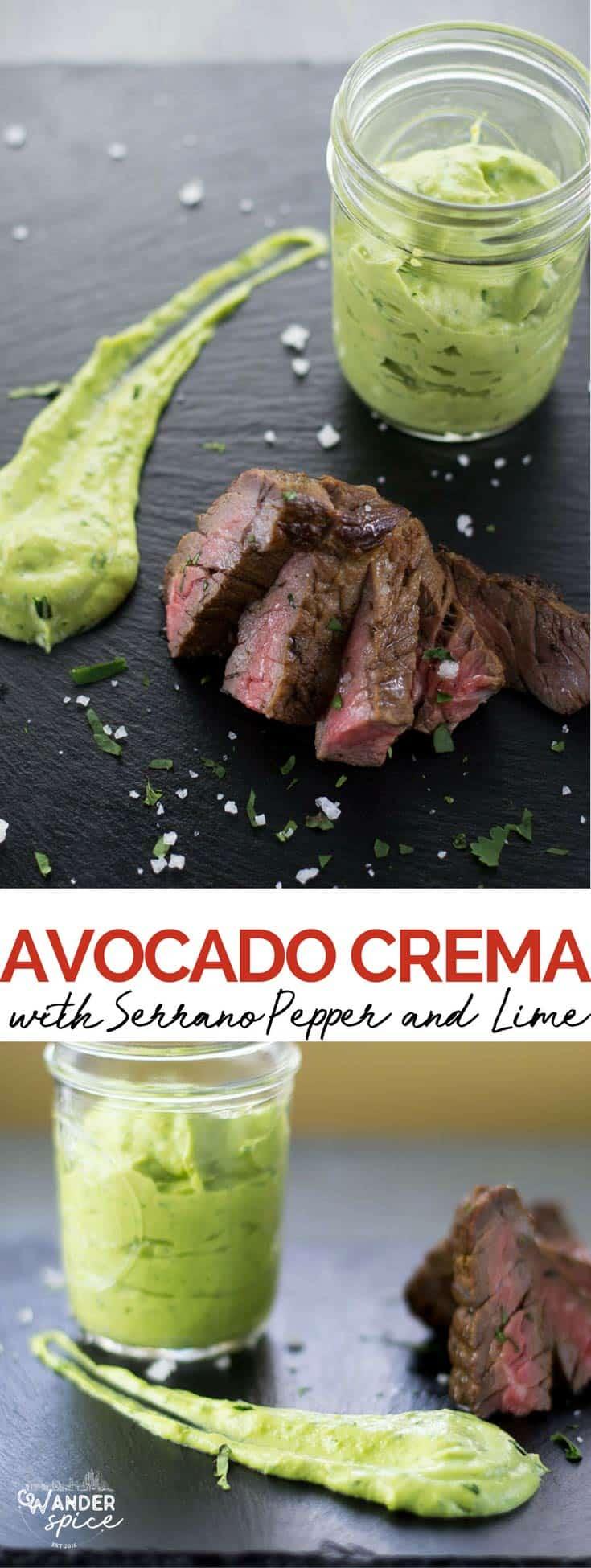 Avocado Cream Recipe. Fish Taco Sauce. Mexican Dipping Sauce that's Healthy