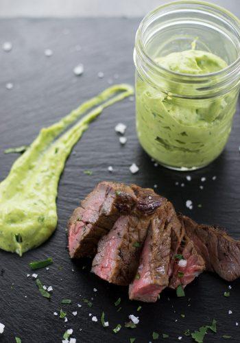 avocado crema, mexican dipping sauce
