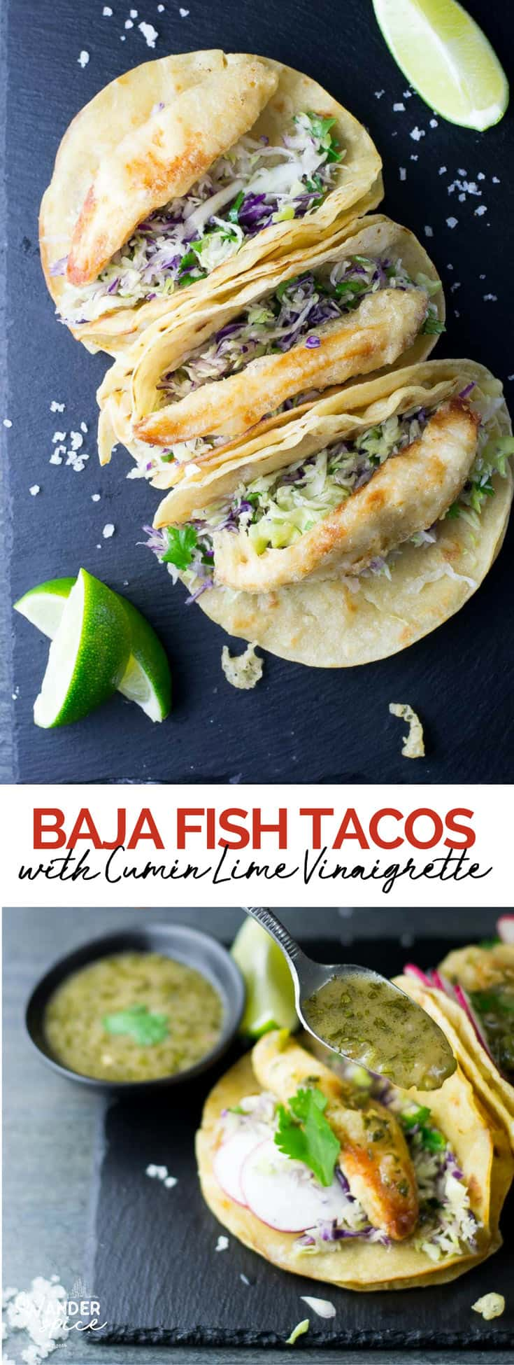 Fish Tacos made with tilapia and a zesty cabbage claw. Easy Recipe