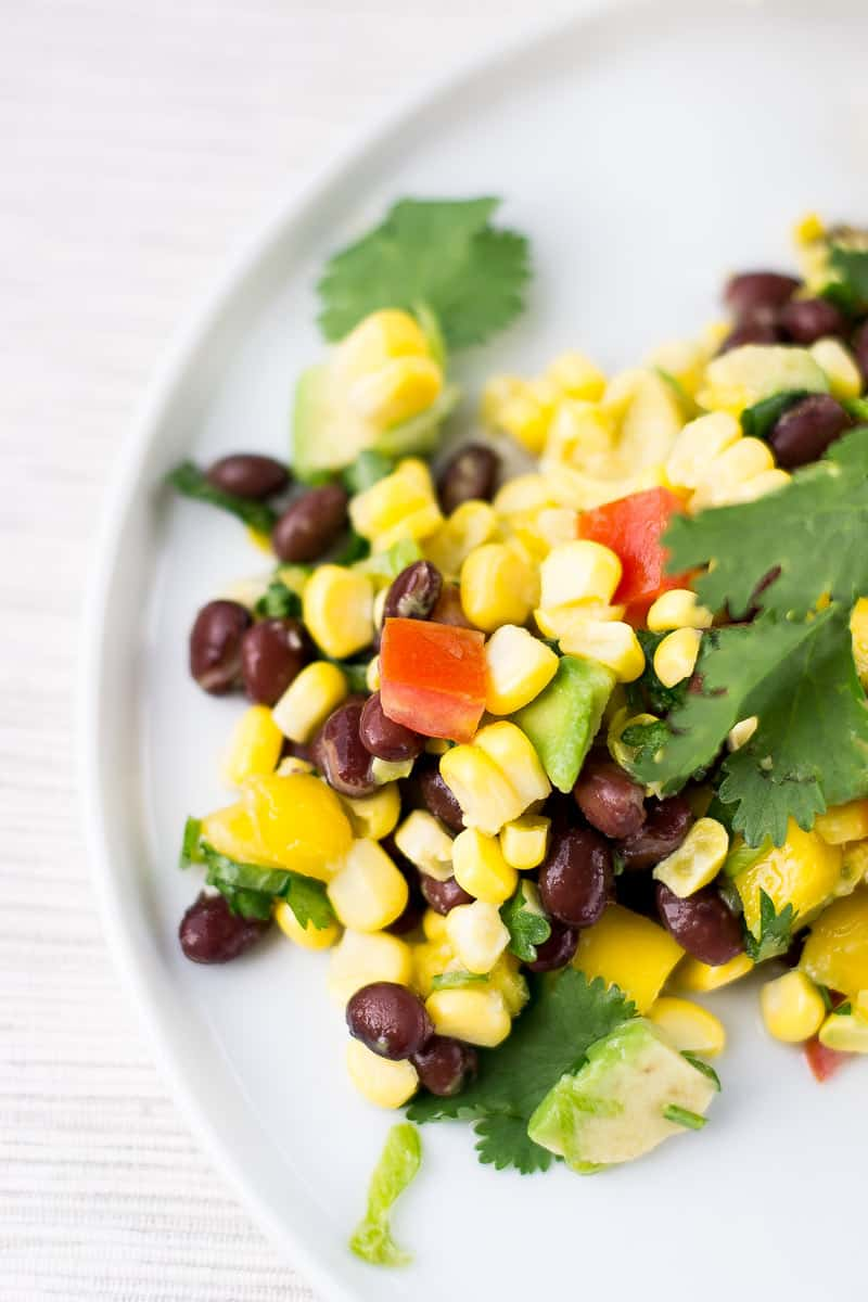 black bean and corn salad with cilantro
