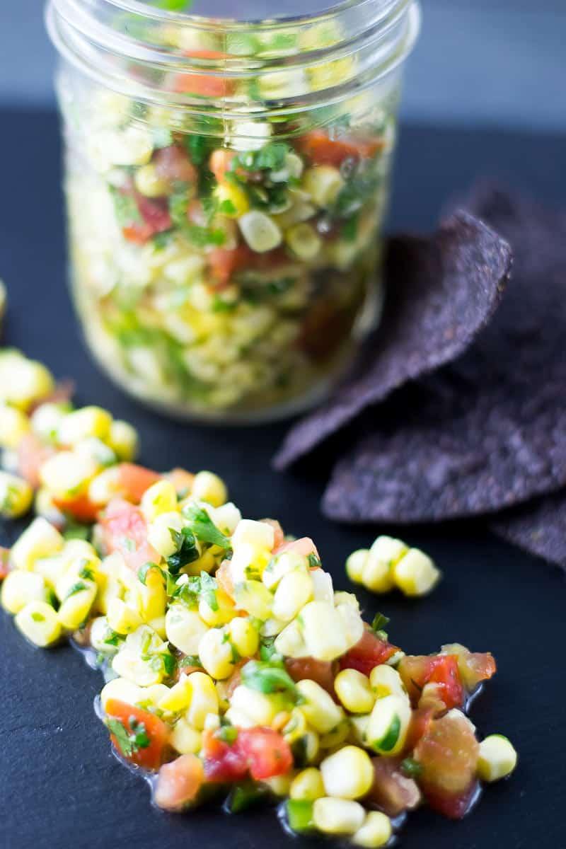 sweet corn salsa