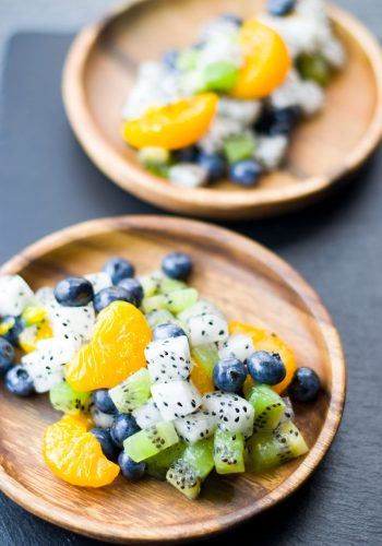 Dragon Fruit Salad with mixed fruits