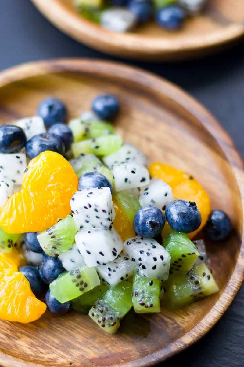 Dragon Fruit Salad Close Up