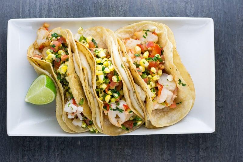 Three Shrimp Tacos
