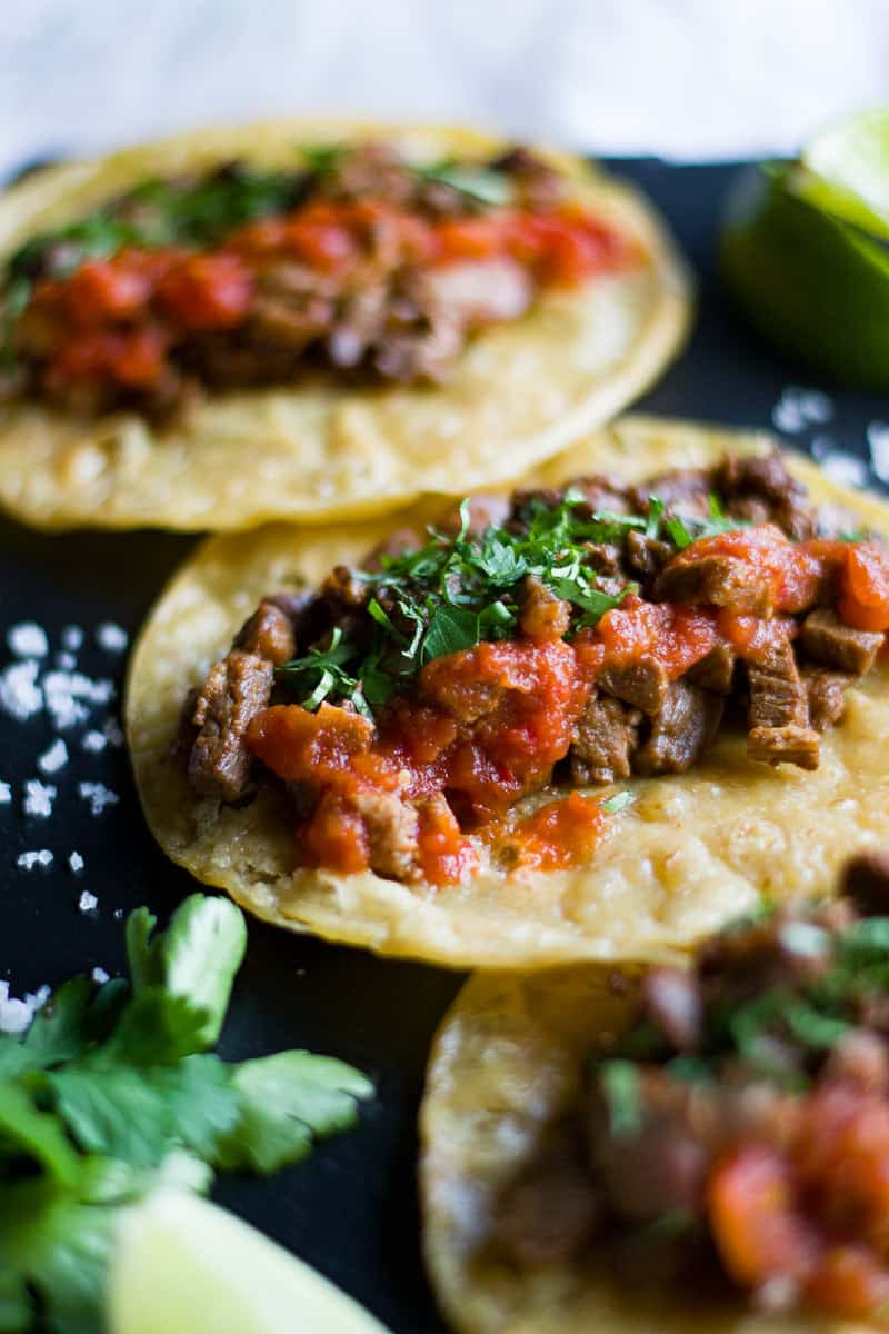 Mexican Steak Tacos - Carne Asada Tacos