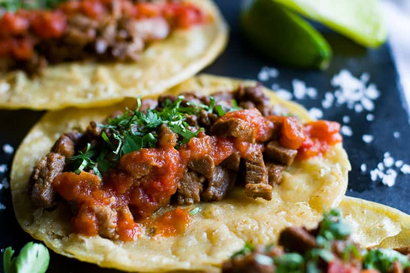 Mexican Steak Tacos with Lime