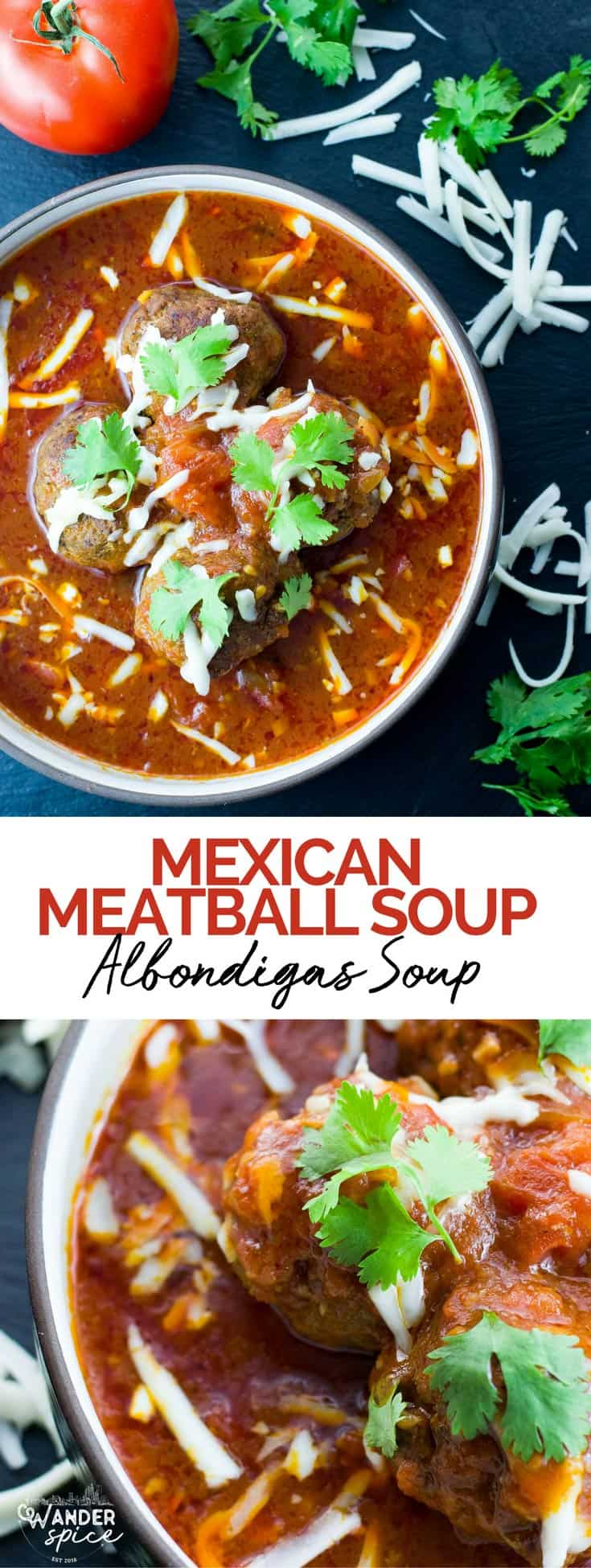 Mexican Meatball Soup Recipe - Albondigas-soup. Authentic and very easy to make.
