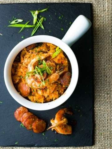 creole jambalaya sausage and shrimp