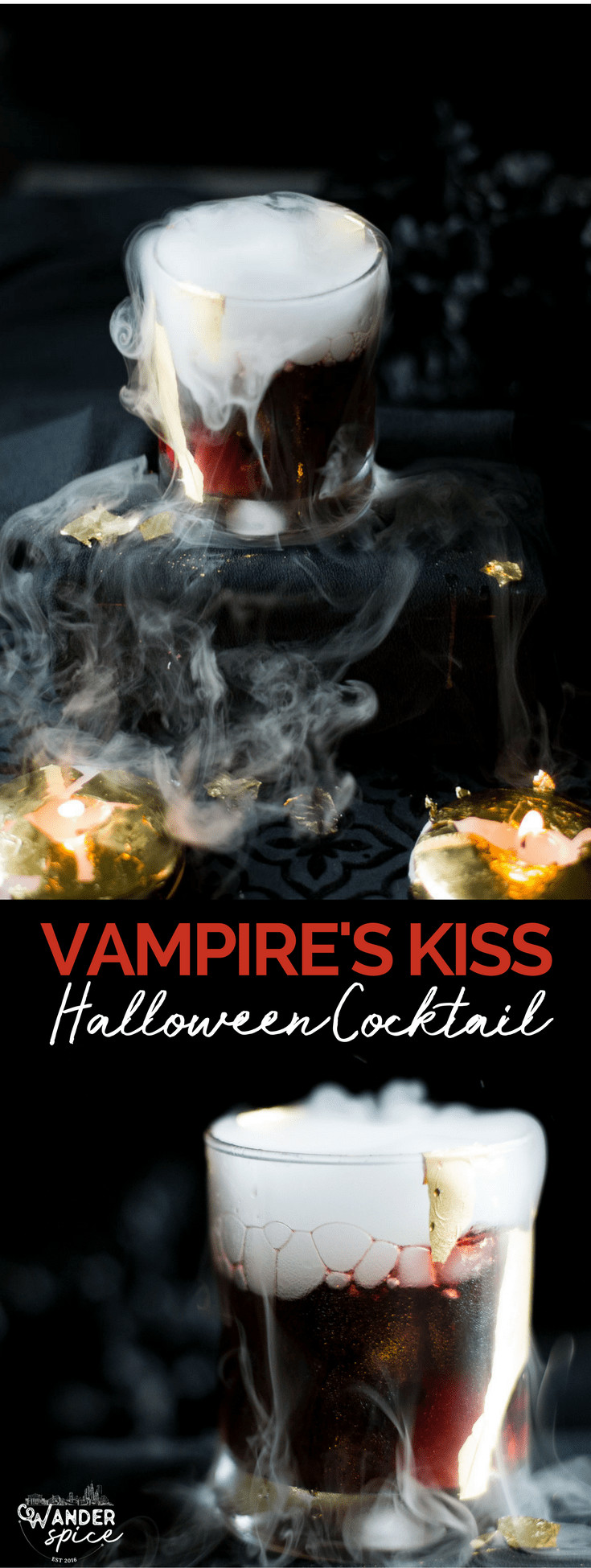 Vampire's Kiss Cocktail - Halloween Cocktail   Recipe   Spooky   Easy   Spooky   with Dry Ice