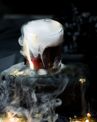 halloween cocktail vampire kiss candles