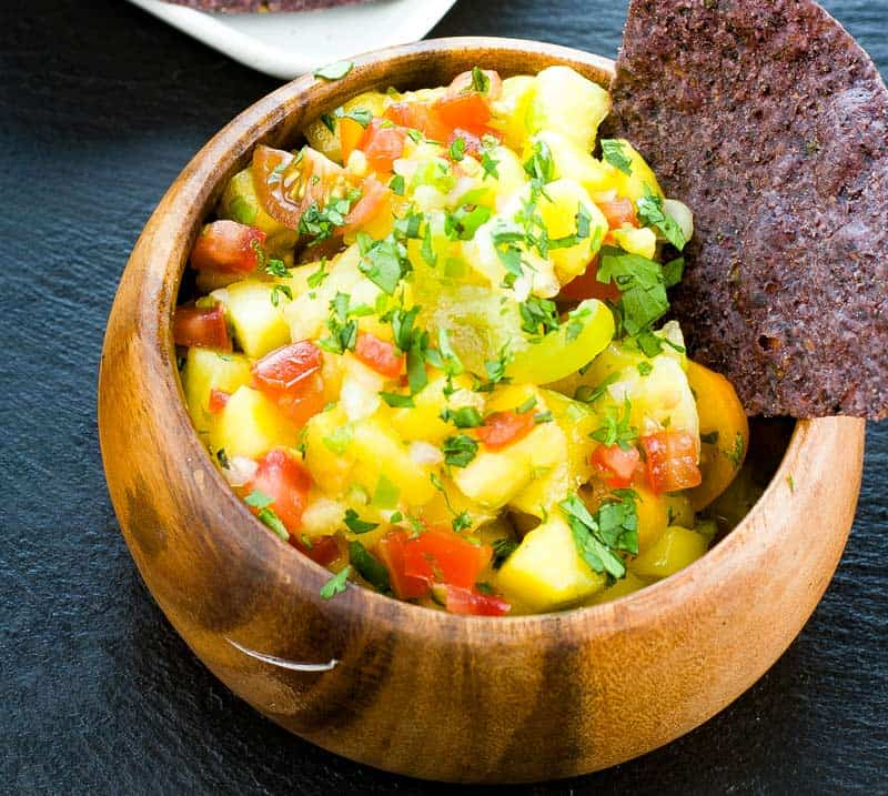 pineapple mango salsa with cilantro