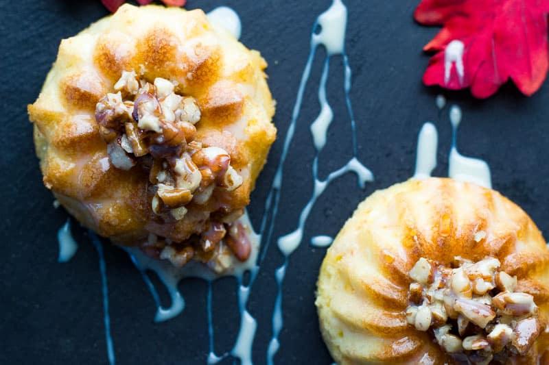 Easy Mini Bundt Cake Recipe for Fall - Mini Carrot Bundt Cakes