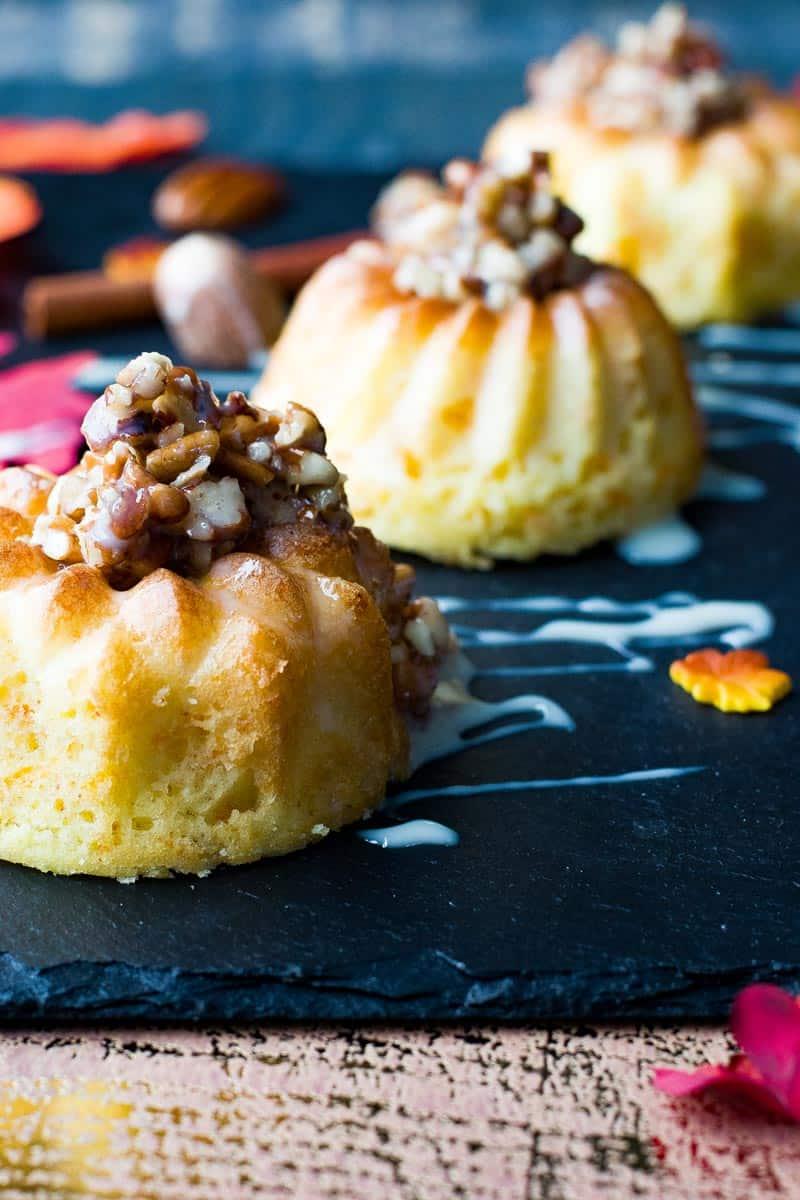 Easy Mini Bundt Cake Recipe.with Pecan Drizzle - Mini Carrot Bundt Cakes
