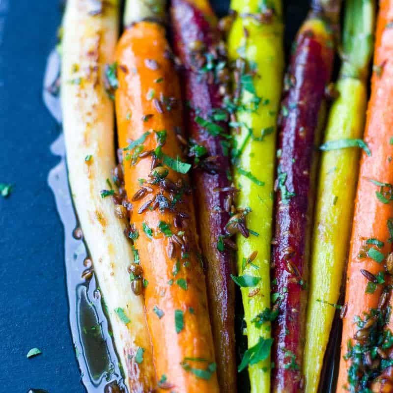 Roasted Brown Sugar Carrots - Glazed