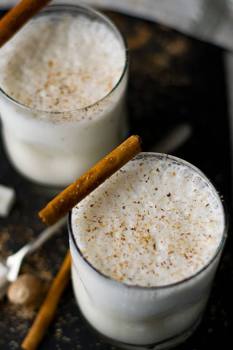 bourbon milk punch, make your White Christmas merry and bright.