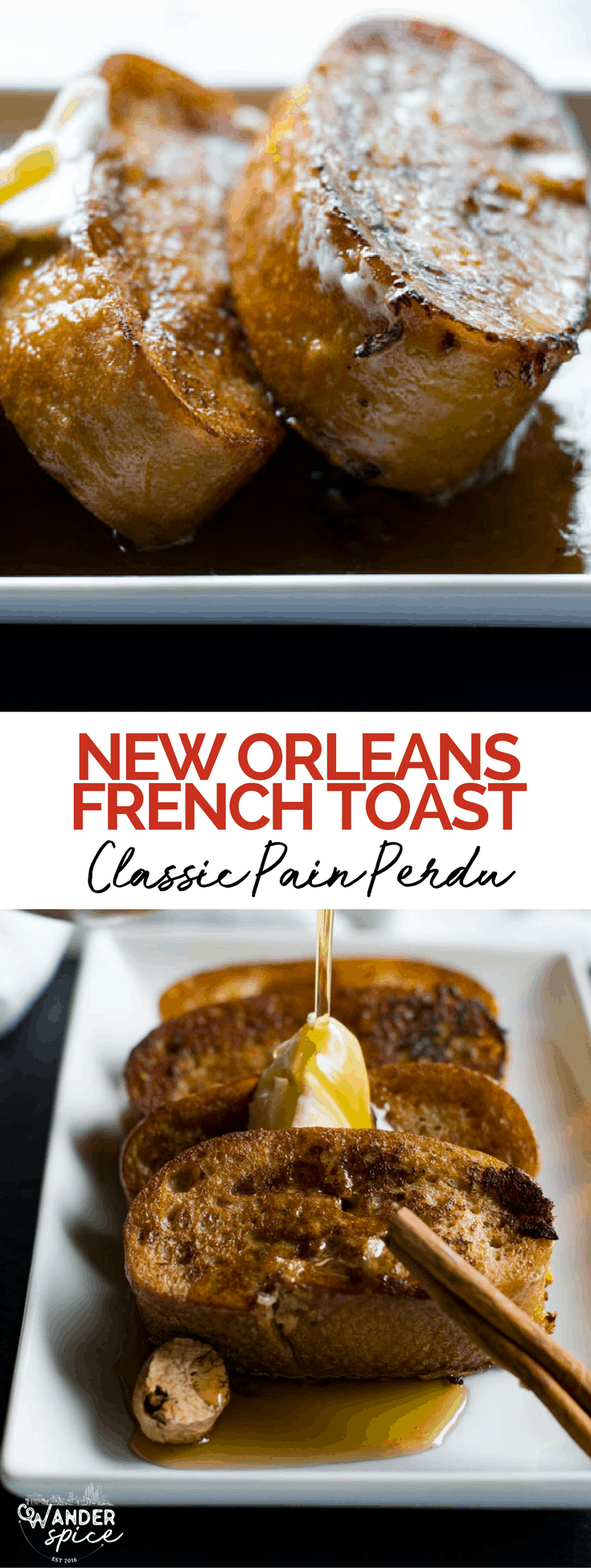 Best French Toast Recipe - Classic French Toast from New Orleans. Pain Perdu #FrenchToast