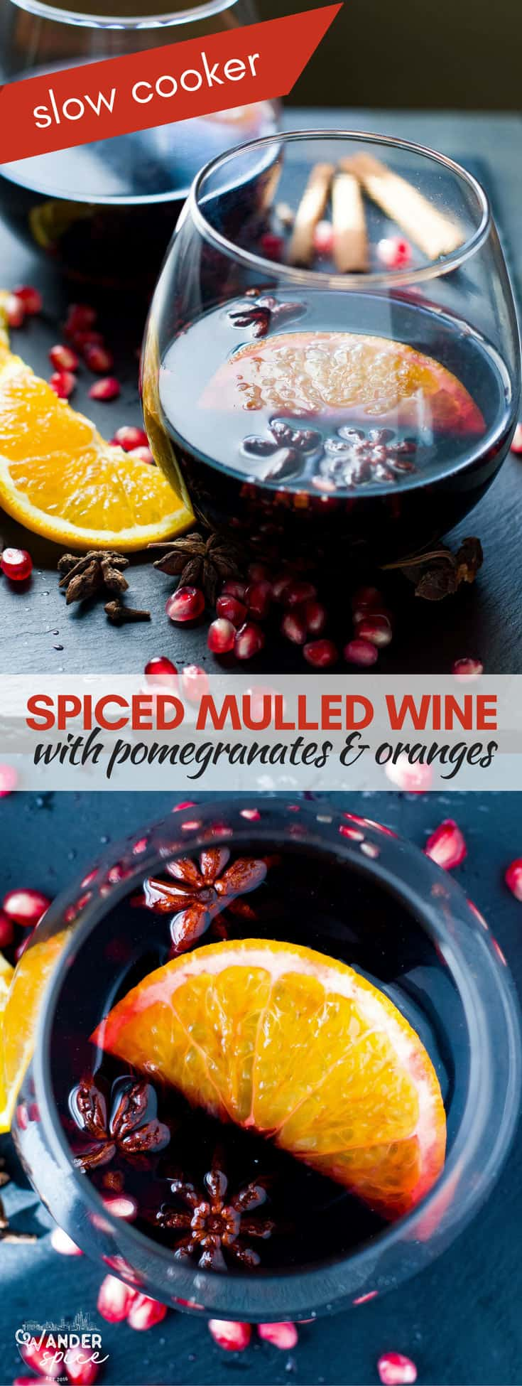 Slow Cooker Mulled Wine Recipe. Easy Fall Recipe.