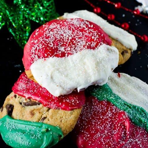Christmas Chocolate Chip Cookies Layered