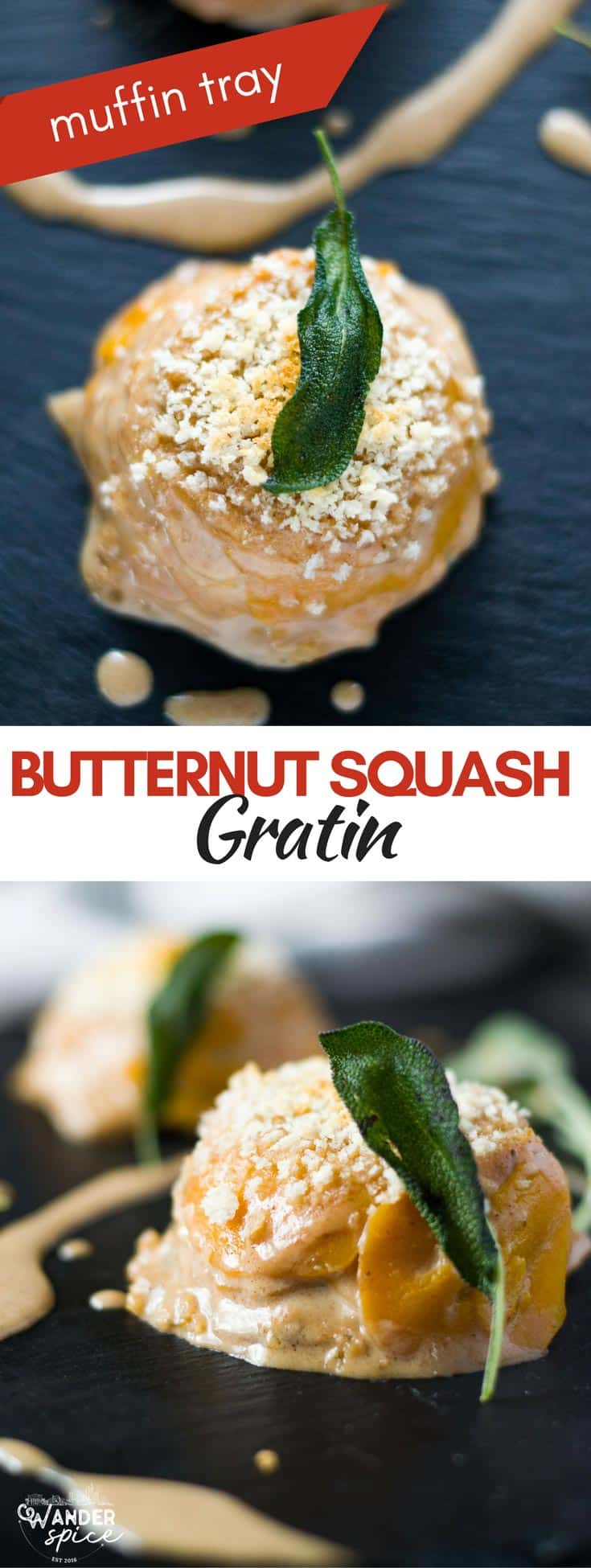 Butternut Squash Gratin with Panko Breadcrumbs and Fried Sage