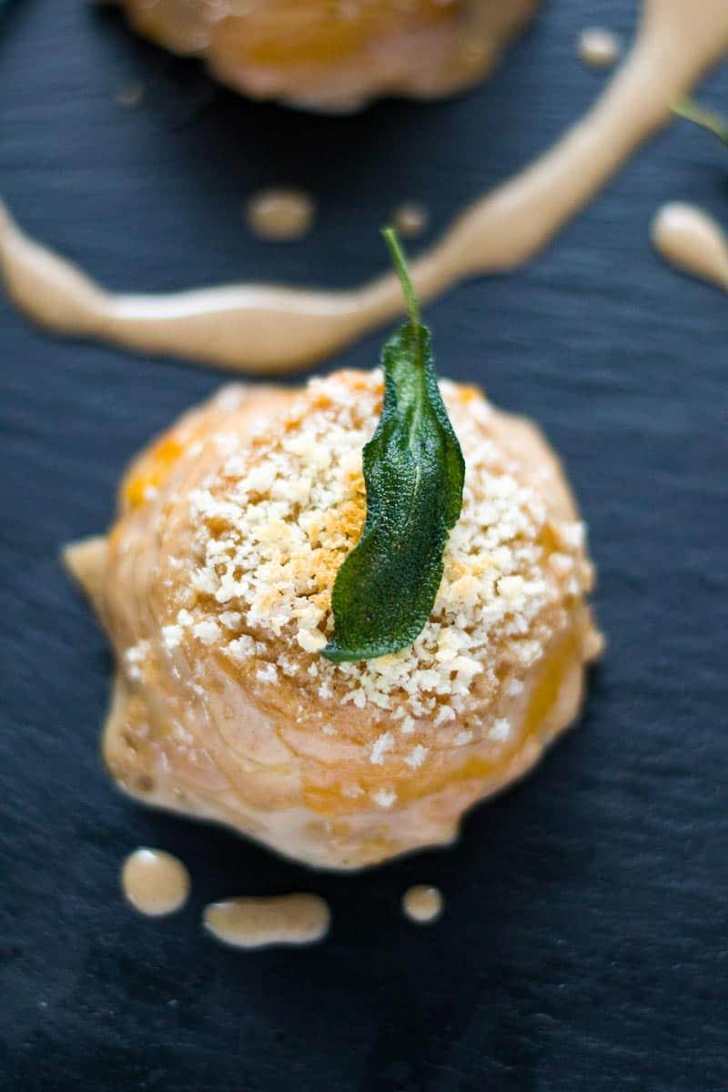 butternut squash gratin with breadcrumbs