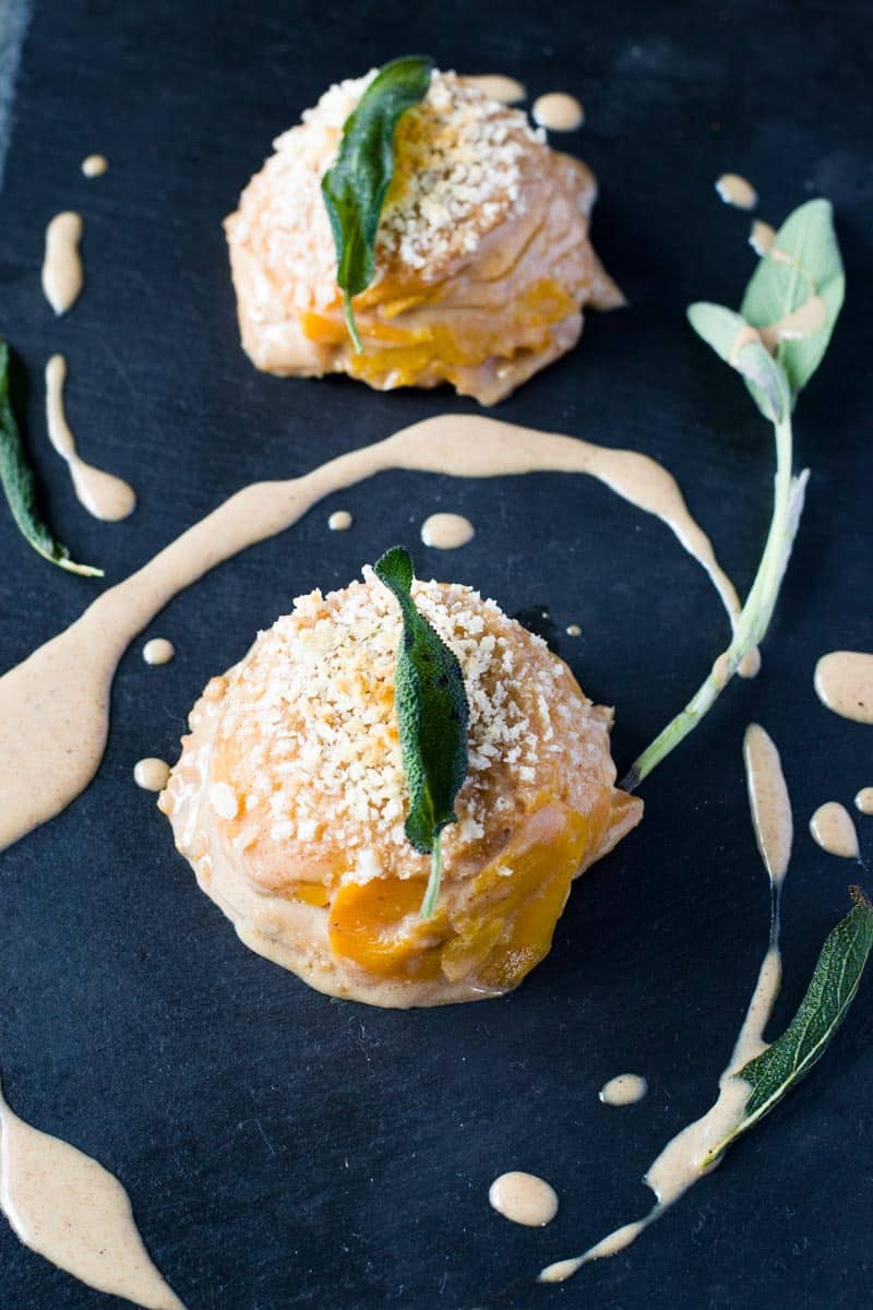 butternut squash gratin with fried sage