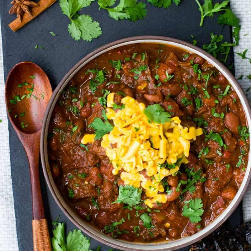 Instant Pot Chili with Red and Pinto Beans