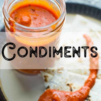 Vegetarian and Low-Carb Condiments
