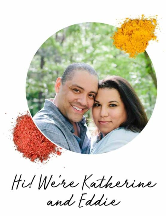 Portrait of Katherine and Eddie - chef and writer for Wanderspice